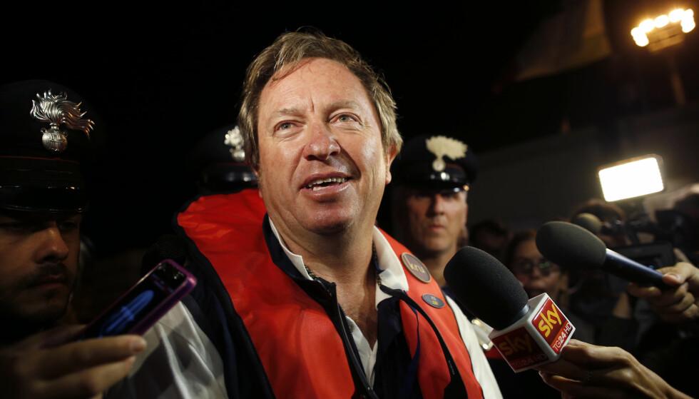 STOR PLAN: Ingeniør Nick Sloane hadde hovedansvaret for bergingen av Costa Concordia i 2013. Nå har han et nytt gigantprosjekt i tankene. Foto: Tony Gentile / Reuters / NTB Scanpix