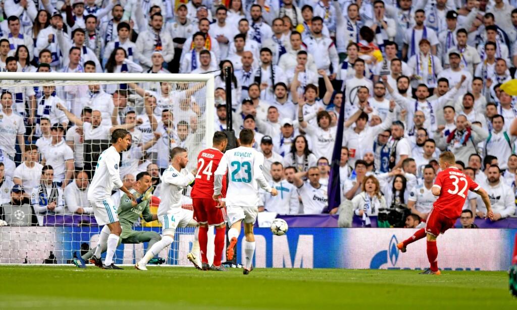 0-1: Joshua Kimmich sendte Bayern i ledelsen. Foto: NTB Scanpix