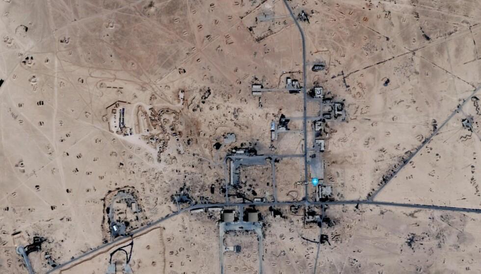 T-4: Satelittbilde av militærbasen T-4. Her skal iranske styrker ha blitt angrepet av et israelsk rakettangrep i april. Foto: Google Earth / Skjermdump