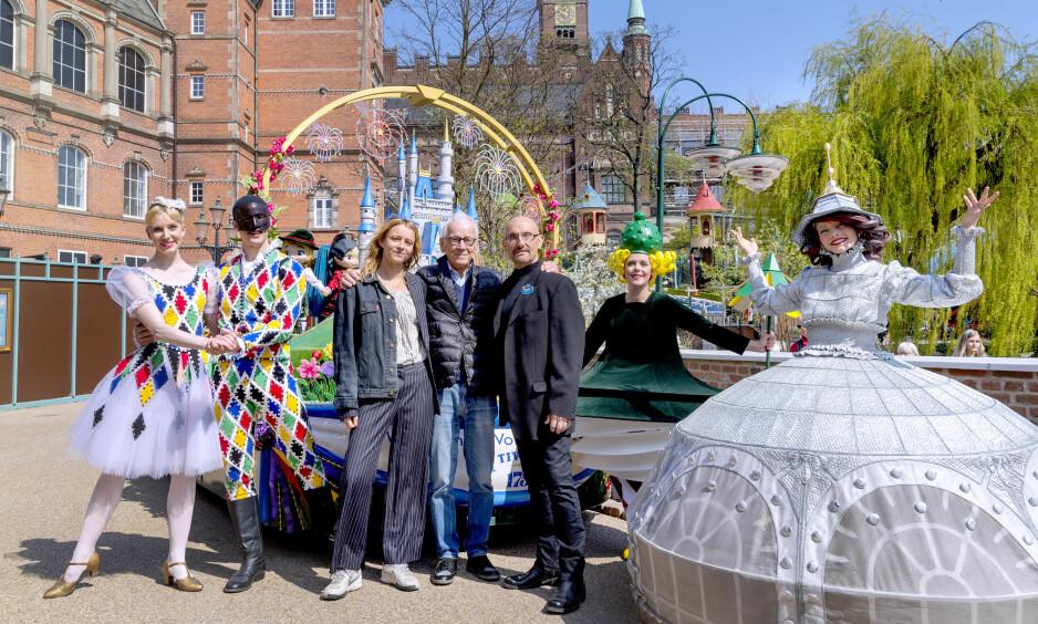 SESONGKLARE: Tivoli i København fyller 175 år i år, og markerer jubileet med en daglig musikalsk parade gjennom hele parkanlegget. Foto: Tivoli