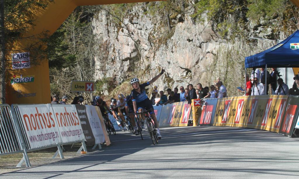 VANT I FJOR: Rasmus Guldhammer klatret bedre enn alle de øvrige norske kontinentalrytterne opp mot Kleivstua i fjor. FOTO: Jarle Fredagsvik, procycling.no