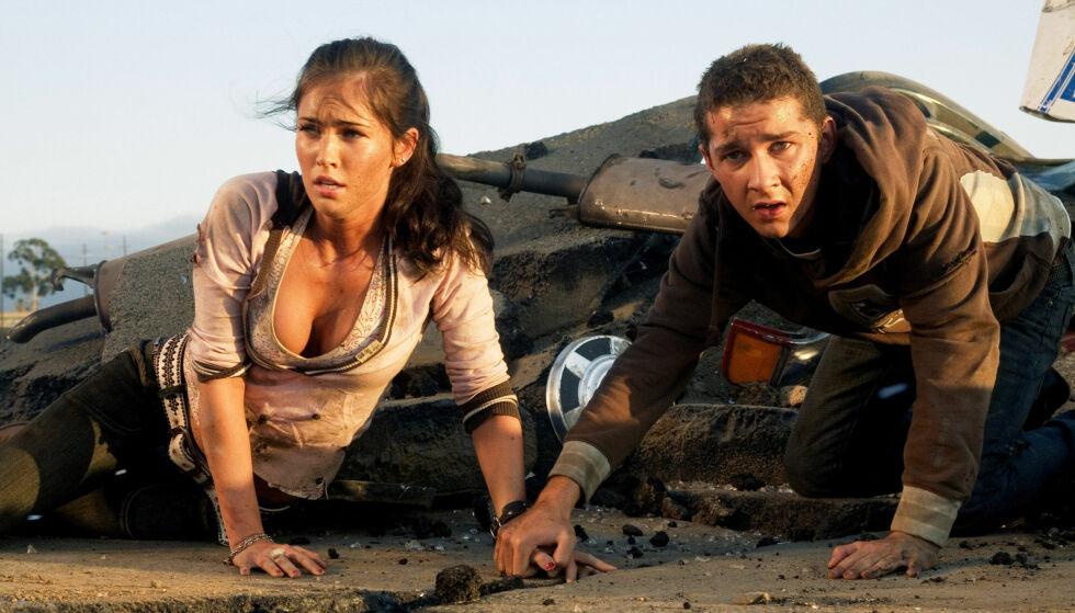FIKK STJERNESTATUS: Megan Fox ble særdeles ettertraktet etter at hun medvirket i «Transformers». Så sa det plutselig stopp. Her avbildet sammen med skuespillerkollega Shia LaBeouf. Foto: NTB Scanpix