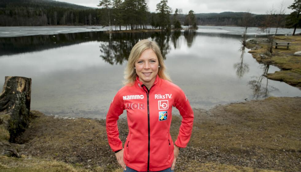 I FORSVARSPOSISJON: Maren Lundby kan bli den første norske hopperen til å vinne verdenscupen i hopp sammenlagt to år på rad. Foto: Vidar Ruud / NTB scanpix