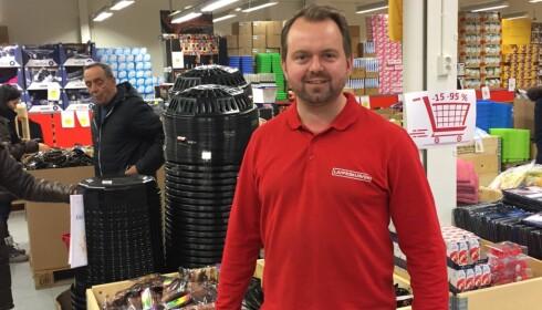 GJERDRUM: Lavpriskurven startet nord for Oslo. Forretningen har utvidet med filial på Namsos og leter etter nye lokaler på Østlandet. Foto: Tine Faltin