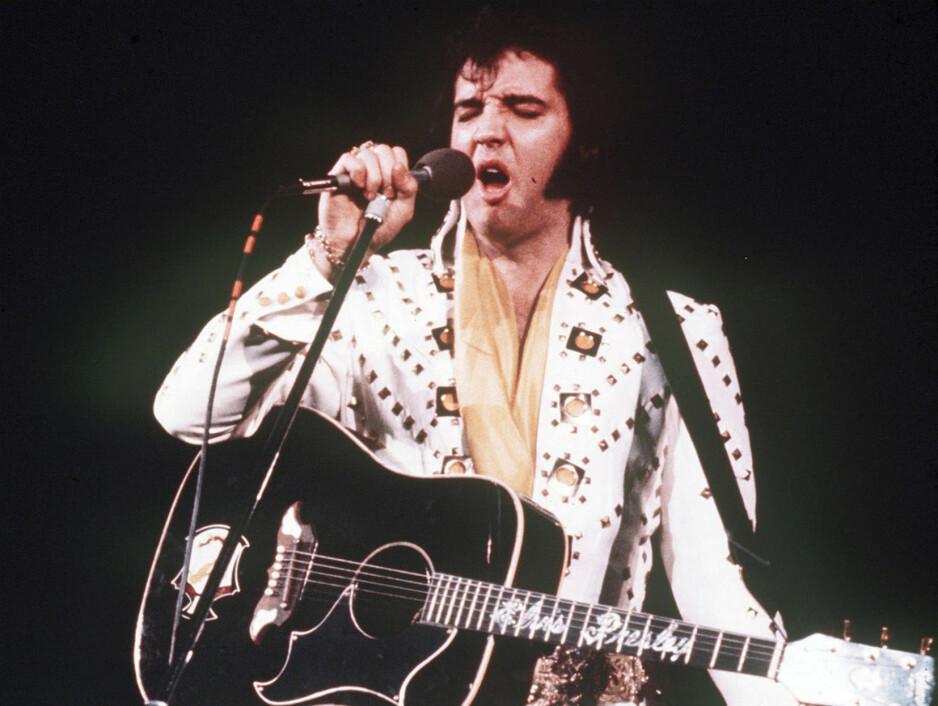 """KONSERTER: Den nye dokumentarfilmen """"Fenomenet Elvis"""" forteller om hans norske fans, men går også gjennom historien, fra de første innspillingene til konsertene de siste åra han levde. Foto: NTB Scanpix"""