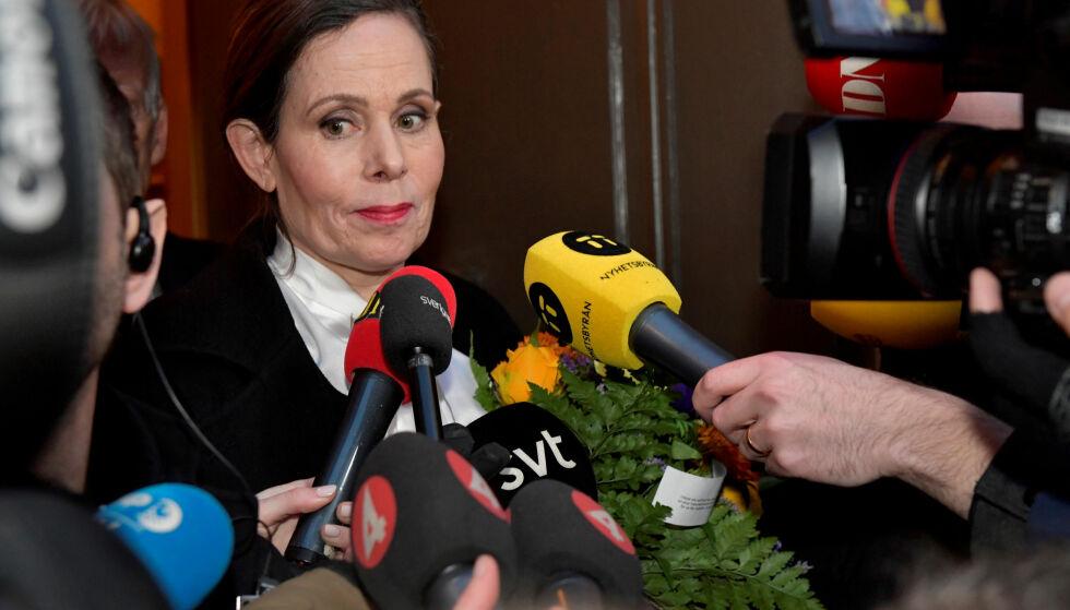 TRAKK SEG: Leder Sara Danius gikk av som sekretær i Svenska Akademien i april. Foto: NTB Scanpix