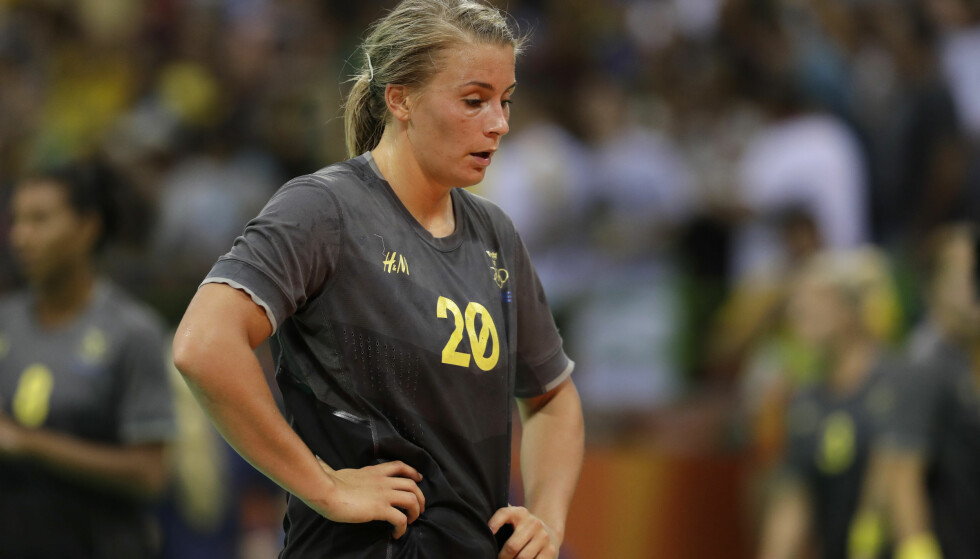 SLET MED KROPPSBILDET: Håndballstjerna Isabelle Gulldén. Foto: AP Photo/Ben Curtis