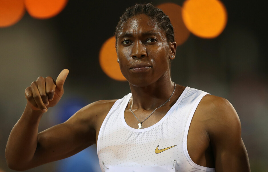 VANT: Caster Semenya (27) åpnet årets Diamond League med seier på 1500 meter. Foto: Ibraheem Al Omari / Reuters / NTB Scanpix