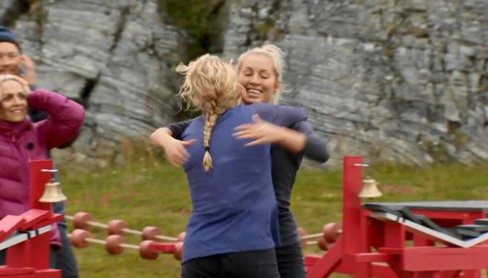 UTE: Søndag var det Carina Dahl som trakk det korteste strået og måtte forlate konkurransen om å bli Norges tøffeste kjendis. Foto: Discovery