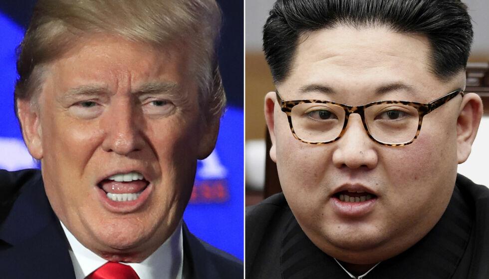 POSITIV: Donald Trump sier at samtalene mellom USA og Nord-Korea går «veldig, veldig bra». Foto: NTB Scanpix