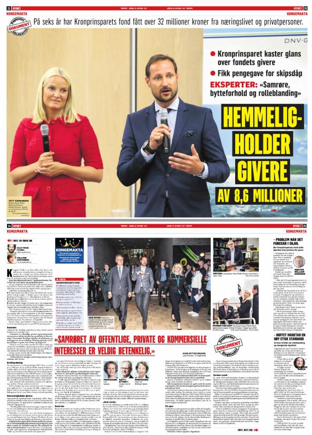 Faksimile: Dagbladet 17. oktober 2017.