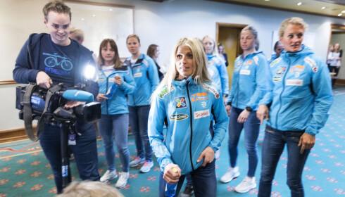 HURTIGHET: Therese Johaug og de norske skijentene må bli hurtigere, mener deres nye trener Ole Morten Iversen.  Foto: Gorm Kallestad / NTB scanpix