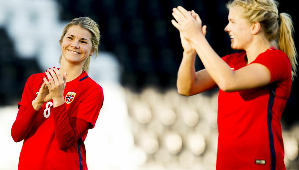 SØSTERDUELL: Andrine Hegerberg (PSG) og Ada Hegerberg (Lyon) møtes i den franske cupfinalen. Foto: Vegard Wivestad Grøtt / NTB scanpix