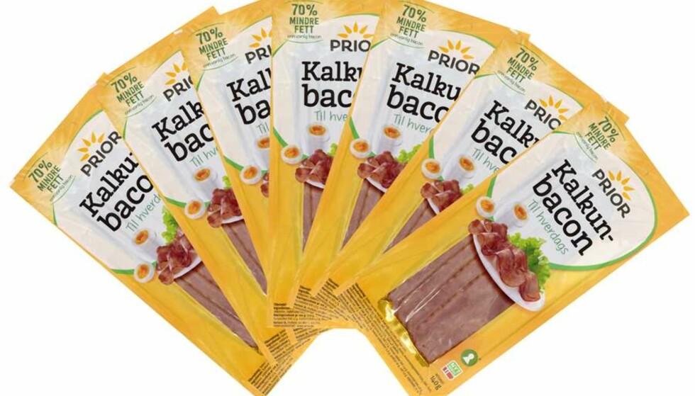 GODKJENT: Mattilsynet har nå vedtatt at ordet bacon kan brukes i forbindelse med kalkunprodukter. Foto: Nortura