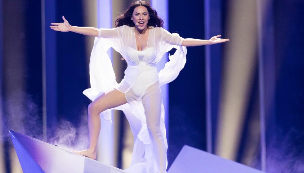 FØRST UTE: Aisel Mammadova fra Aserbajdsjan fikk æren av å åpne første «Eurovision»-semifinale. Foto: Rolf Klatt/REX/Shutterstock