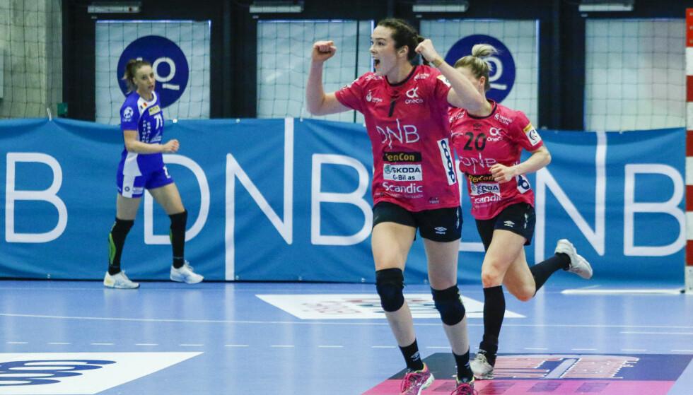 FULL KONTROLL: Kari Brattset og resten av Vipers hadde kontroll, og tok seg greit til sluttspillfinale. Foto: Tor Erik Schrøder / NTB scanpix