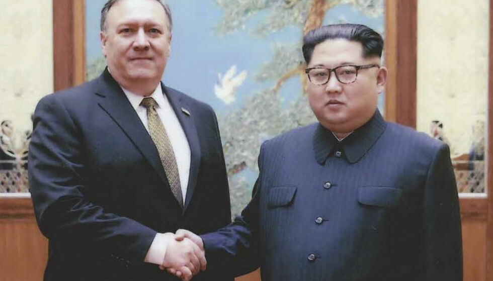 MØTTE DIKTATOR: USAs utenriksminister Mike Pompeo møtte Nord-Koreas diktator Kim Jong-un i april. Foto: AFP PHOTO / US Government / HO