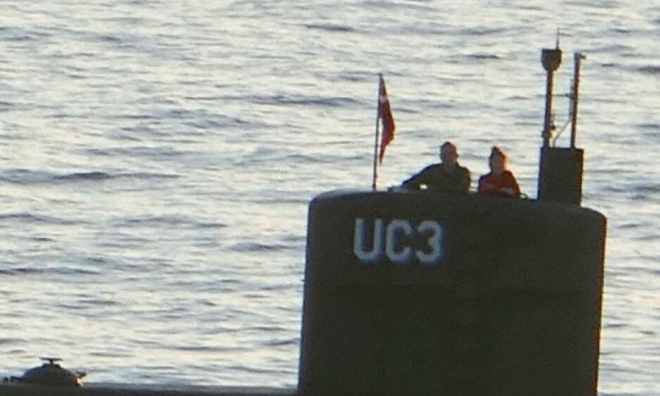SIST SETT: Kim Wall ble fotografert sammen med Peter Madsen i ubåten den 10. august. Det var siste gangen hun ble sett. Foto: Scanpix
