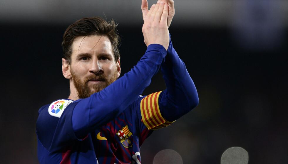 STORMER FRAMOVER: Lionel Messi og Barcelona går mot en ubeseiret sesong. Foto: AFP PHOTO / Josep LAGO