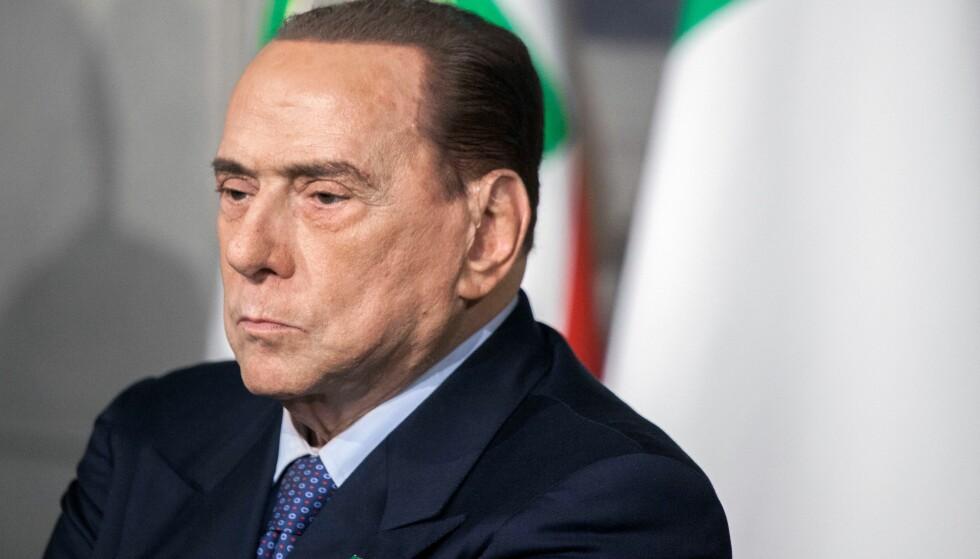 GIR TILLATELSE: Silvio Berlusconi. Foto: Rosaria De Marco / Rex / Shutterstock / NTB Scanpix
