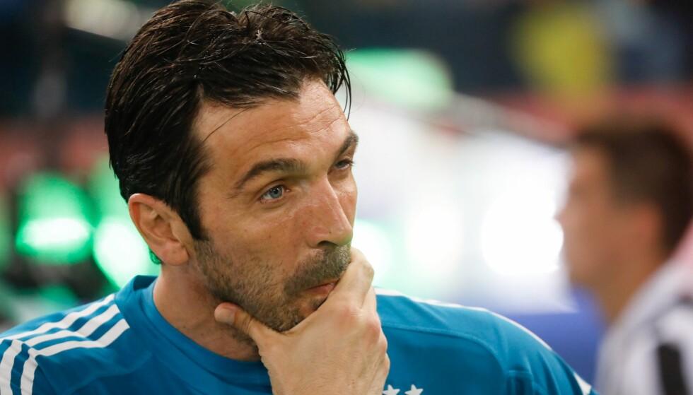 USIKKER: Gianluigi Buffon er usikker på om han skal gå til PSG i sommer. Foto: Ciro de Luca/NaFoto/SoeverMedia/REX/Shutterstock