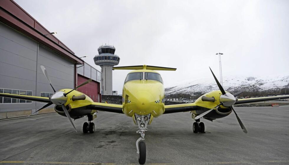 Tromsø 20180507. Luftambulansefly fra Lufttransport på Tromsø Lufthavn. Foto: Rune Stoltz Bertinussen / NTB scanpix