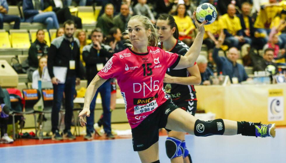 BARE NESTEN: Linn Jørum Sulland og Vipers tapte EHF-finalen med ett lite mål sammenlagt. Foto: Tor Erik Schrøder / NTB scanpix