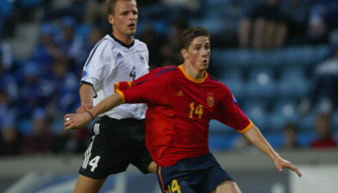SLO TIL: Fernando Torres ble toppscorer i U19-EM i Norge i 2002 og matchvinner i finalen (bildet) og fortsatte å score også på det høyeste nivået senere i karrieren. Foto: Morten Holm / SCANPIX