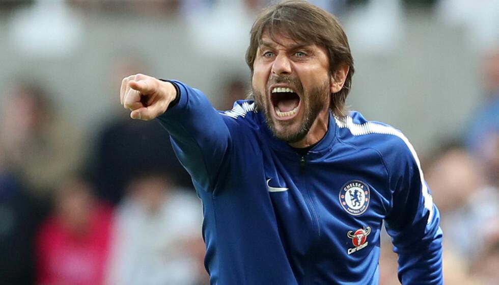 SKUFFENDE SESONG: Chelsea må klare seg uten Champions League-spill neste sesong. Framtida til Chelsea-trener Antonio Conte er uklar. Foto: Scott Heppell / Reuters / NTB Scanpix