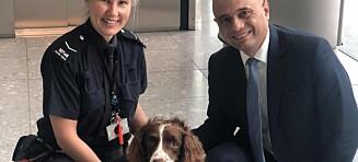 Ministeren skrøt av narkohunden. Bare timer seinere gjorde politiet et pinlig funn i kontorbygget