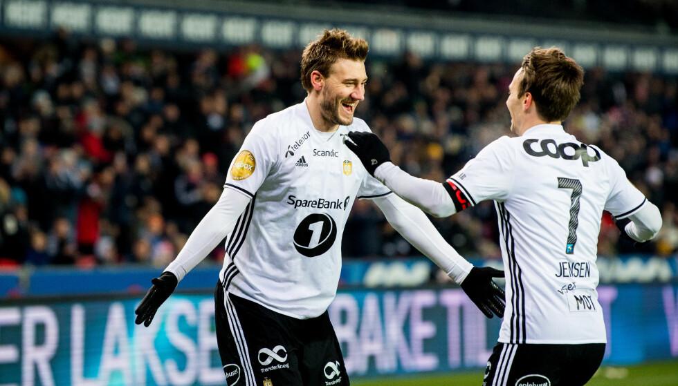 RBK: Nicklas Bendtner og Mike Jensen er tatt ut i bruttotroppen til VM. Foto: Vegard Wivestad Grøtt / Bildbyrån