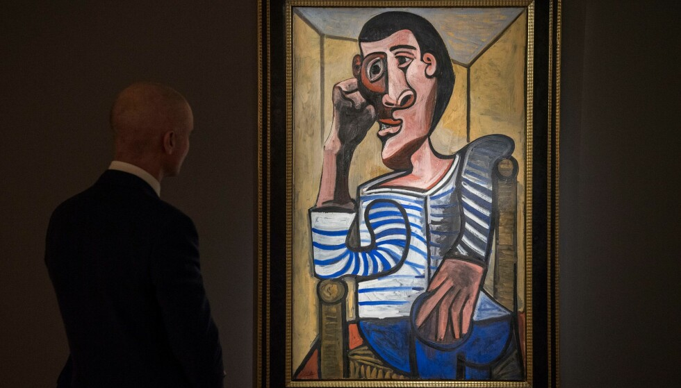 ØDELAGT: Auksjonshuset Christie's opplyser at bildet «Le Marin», eller «Seileren» er blitt ødelagt og at det ikke kan legges fram under auksjonen. FOTO: AFP / NTB Scanpix