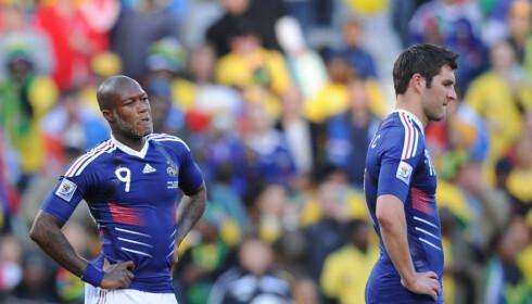 KONTRASTER: Yoann Gourcuff, her sammen med Djibril Cisse for Frankrikes landslag i VM i 2010, var en av de øvrige som utmerket seg i U19-EM i 2005 sammen med Karim Auodia. Foto: NTB Scanpix