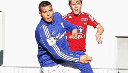 MÅLSNIK: Karim Auodia bøttet inn mål for Kjelsås i 2. divisjon, men fikk aldri sjansen igjen på et høyere nivå. Foto: Kjelsås