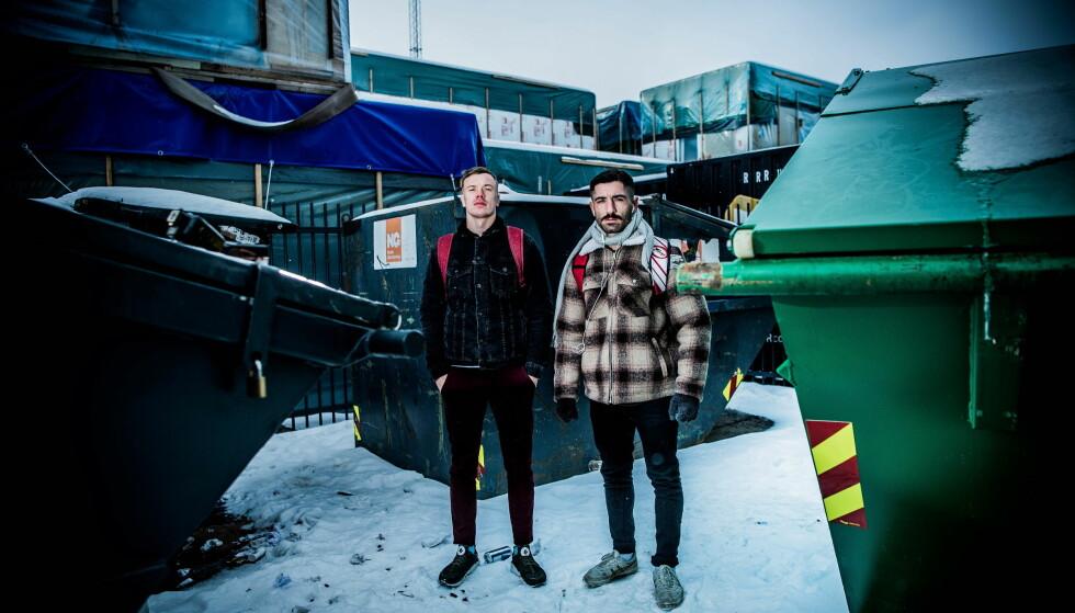 SISTE MØTE: Christoffer Darre (t.v.) og Marwan Palani møttes for siste gang i februar blant containerne på baksiden av Skur 13 på Tjuvholmen. Neste gang er i ringen 26. mai til det som omtales som til å bli en forrykende boksekamp. Foto: Thomas Rasmus Skaug