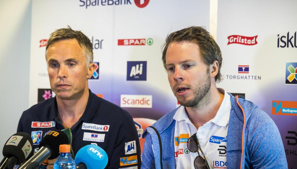 JAKT: Landslagssjef Vidar Løfshus er blant annet på jakt etter Eirik Myhr Nossums assistent. Foto: Heiko Junge / NTB scanpix