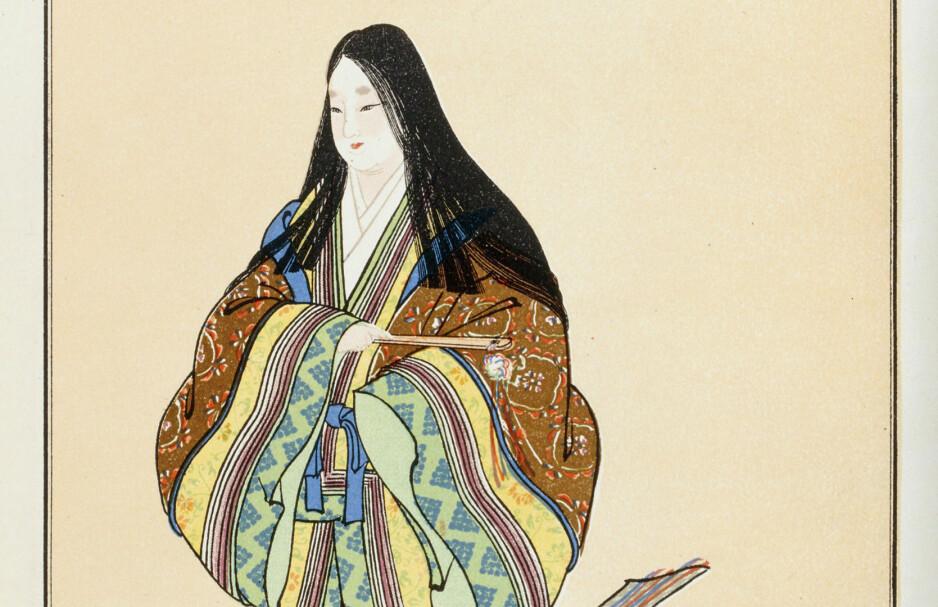 DEN FØRSTE: Murasaki Shikibu var en japansk forfatter, poet og tjener under Heian-dynastiet. Murasaki er best kjent som forfatter av «Fortellingen om Genji» («Genji monogatari») som var ferdigskrevet i år 1021 og som er verdens første roman nedtegnet.Foto: NTB Scanpix