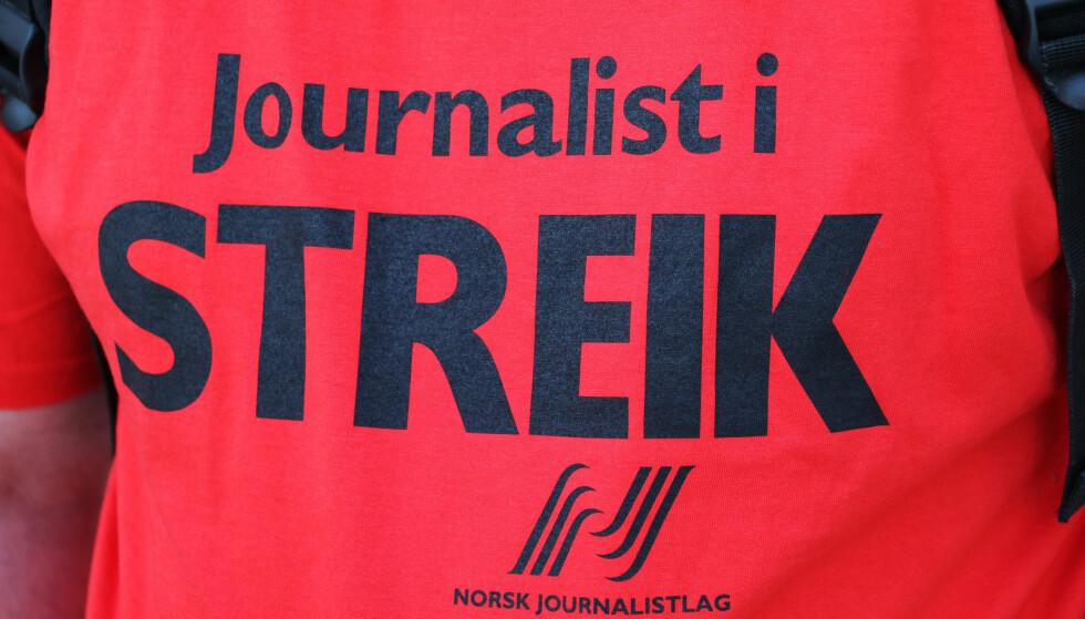 - BRYTER SPILLEREGLENE: Streikeleder i Norsk Journalistlag, Hege Fagerheim, mener NRK driver med omfattende streikebryteri. Foto: Erik Johansen / NTB scanpix
