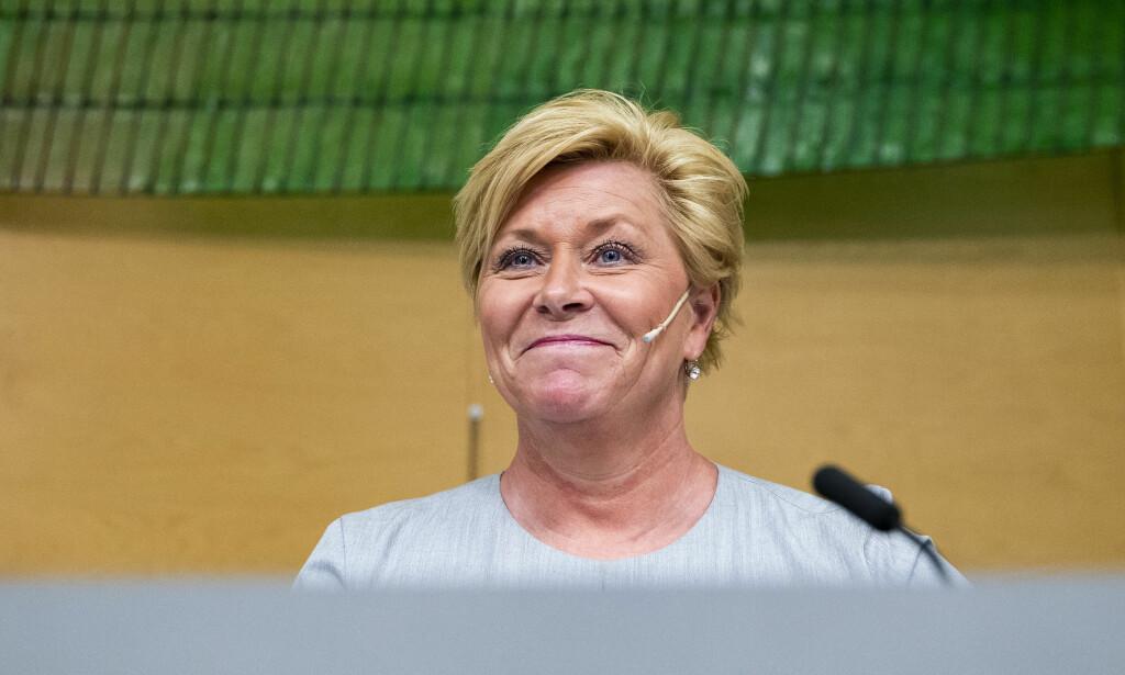 Holder stø kurs: Finansminister Siv Jensen.