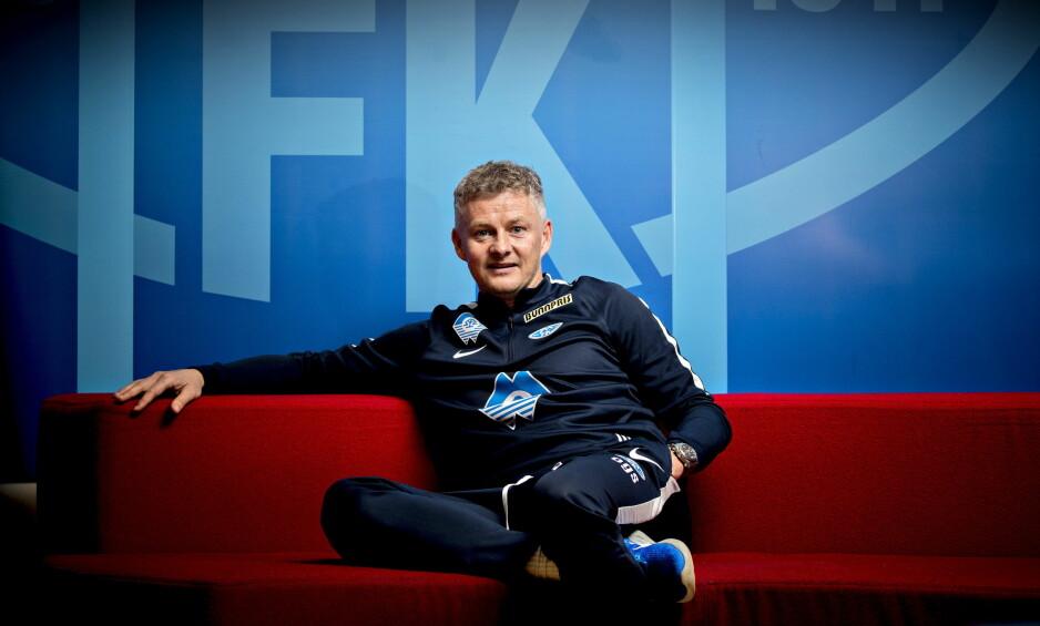 UTFORDRINGER: Ole Gunnar Solskjær prøver å få Molde til å bli et lag blant de tre beste i Eliteserien. Nå krysser han fingrene for Sir Alex Ferguson. Gamlesjefen i Manchester United fikk hjerneblødning.  Foto: Bjørn Langsem