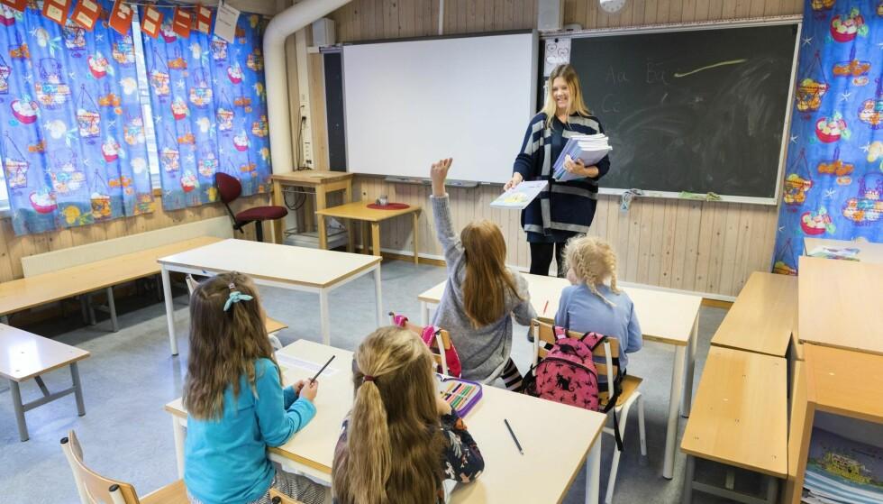 TILHØRIGHET: Skolens tilhørighet til lokalsamfunnet er avgjørende viktig både for samfunnet og for skolen, skriver artikkelforfatteren. Foto: Gorm Kallestad / NTB scanpix