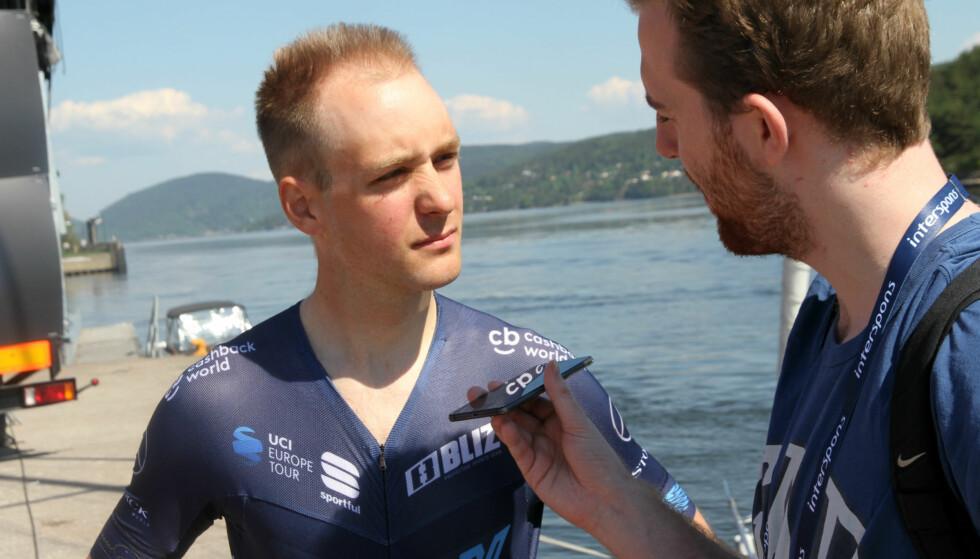 USIKKER PÅ FORMEN: Audun Brekke Fløtten, før starten på den første etappen av Tour of Norway. FOTO: Jarle Fredagsvik, procycling.no
