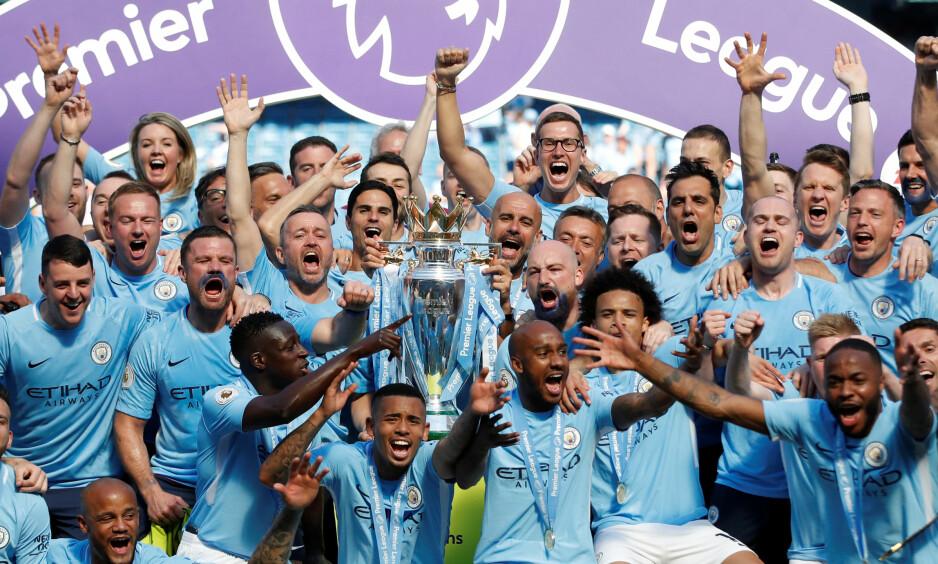 SATTE MANGE REKORDER: Manchester City var overlegne i Premier League denne sesongen. Foto: Reuters/Carl Recine/NTB Scanpix