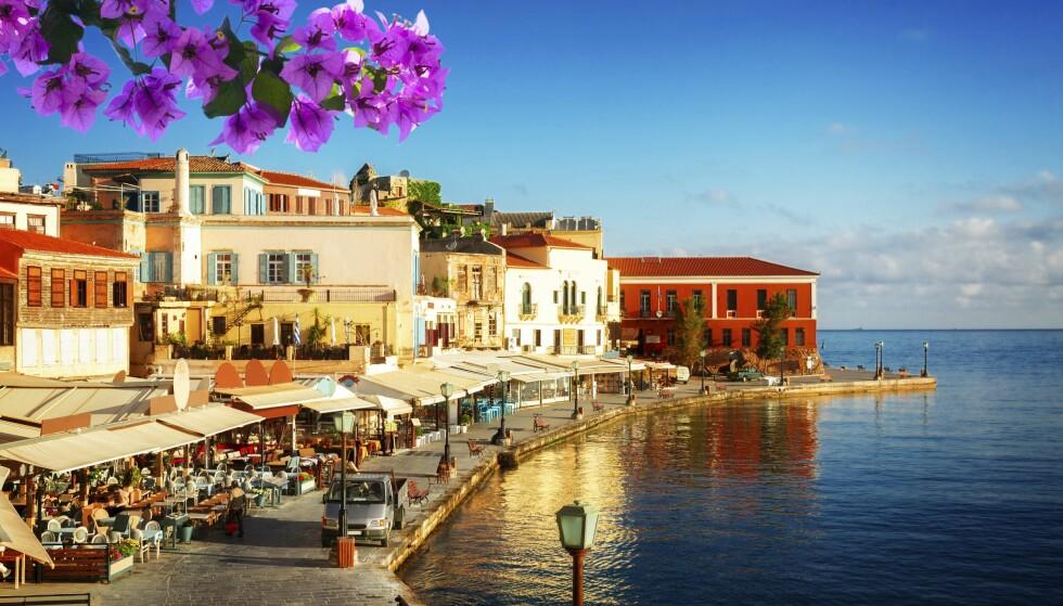 HERLIG HAVN: Den vakre havnen i Chania er verdt turen i seg selv. Foto: Shutterstock / NTB Scanpix