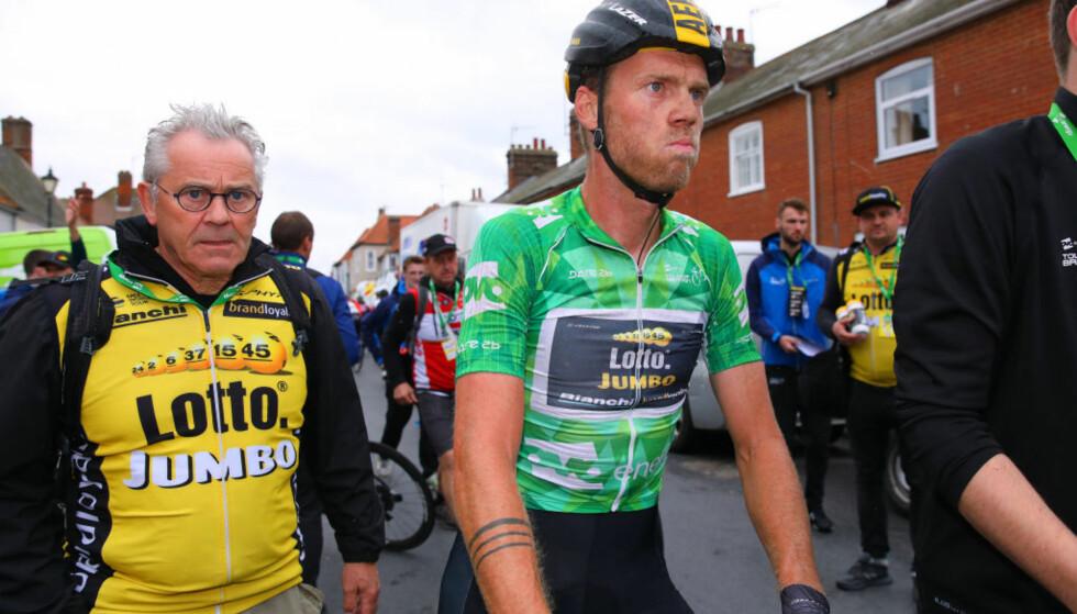 TEMPERAMENTSFULL: Lars Boom ble kastet ut av Tour of Norway etter å ha slått til Preben Van Hecke. Foto: Tim De Waele.