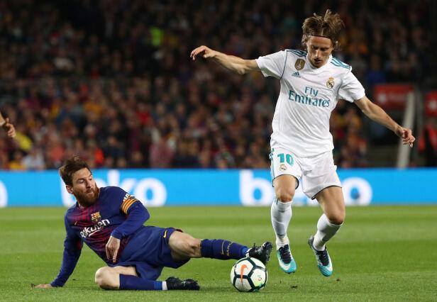STJERNEMØTE: Mellom Lionel Messis Argentina og Luka Modrics Kroatia. Foto: REUTERS/Sergio Perez/NTB Scanpix