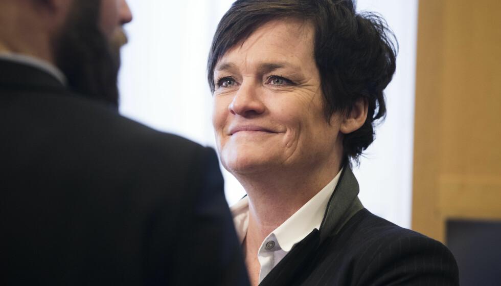ERFAREN ADVOKAT: Advokat Mette Yvonne Larsen i Lime saken der 13 personer står tiltalt. Saken startet i Oslo Tinghus, onsdag. Saken er beregnet til å ta rundt et halvt år. Foto: Berit Roald / NTB scanpix
