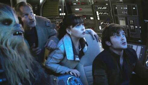NY GJENG: Joonas Suotamo, Woody Harrelson, Emilia Clarke og Alden Ehrenreich spiller i «Solo: A Star Wars Story».