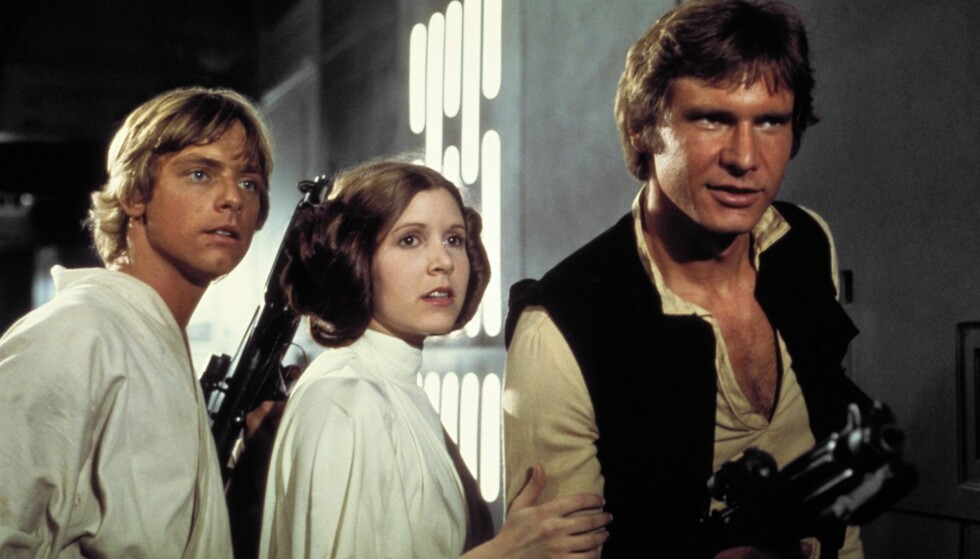 DE OPPRINNELIGE: Mark Hamill, Carrie Fisher og Harrison Ford spilte Luke Skywalker, prinsesse Leia  og Han Solo i de første  tre filmene.