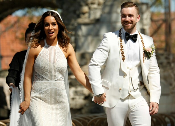 GIFT: Jamina og Stian Blipp giftet seg lørdag - samme dag som prins Harry og Meghan Markle. Foto: Tor Lindseth